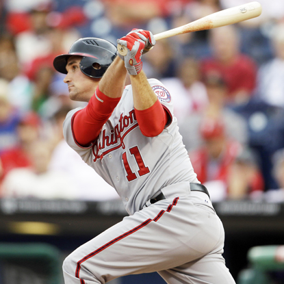 One swing by Ryan Zimmerman in the bottom of the 10th is all it takes for the Nationals to drop the Phillies. (Getty Images)