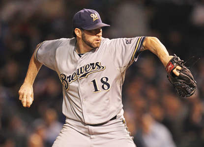 The Brewers move one game closer to clinching the NL Central after eight strong innings from Shaun Marcum.  (Getty Images)