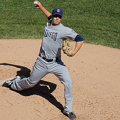 Padres rookie Anthony Bass pitches five shutout innings to earn his second career win. (Getty Images)