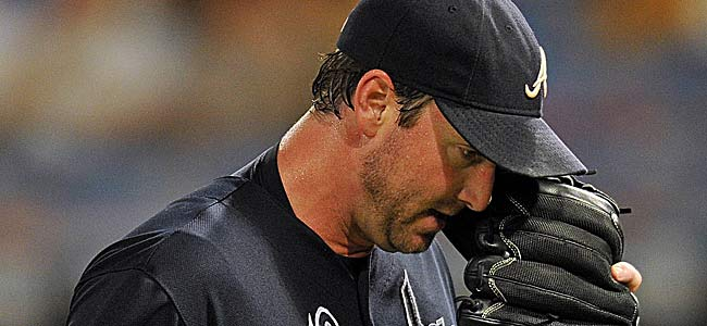 Derek Lowe's Braves were 10 1/2 up on the Cards for the wild card on Aug. 25. (US Presswire)