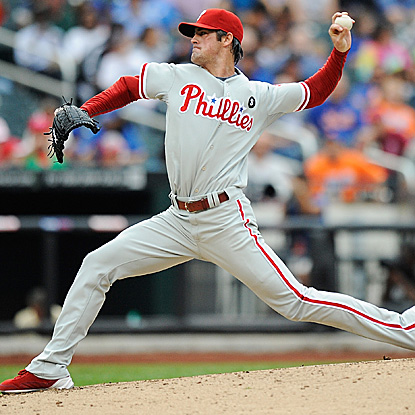 Cole Hamels pitches seven sharp innings in a playoff tuneup, allowing only one run in the Phillies loss.   (Getty Images)