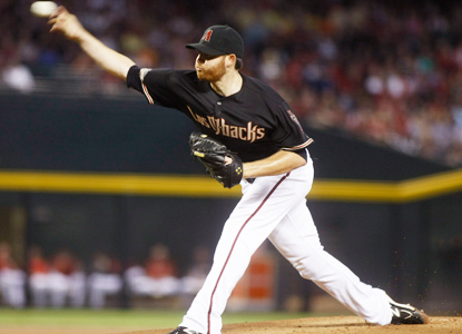 Ian Kennedy allows two runs and five hits through six dominant innings against  the Giants.  (Getty Images)
