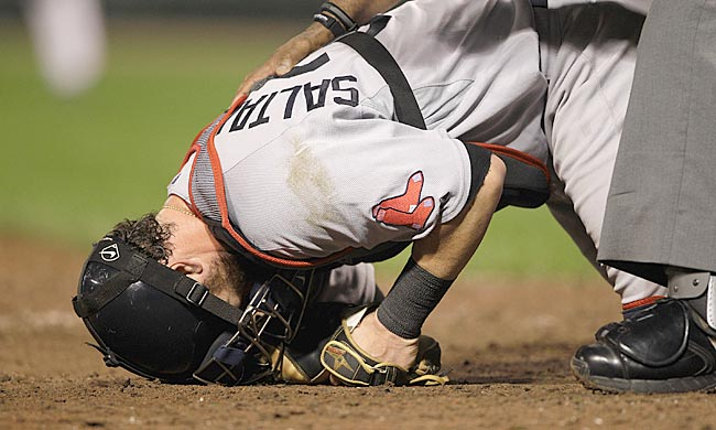 September has seemingly brought Jarrod Saltalamacchia and the Red Sox to their knees. (Getty Images)