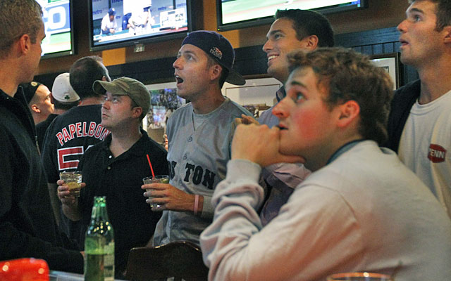 The way Red Sox fans prattle on, win or lose, is enough to drive anyone to drink. (AP)