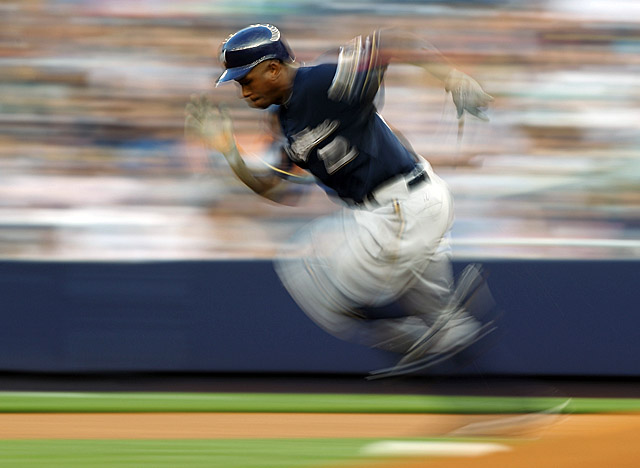 Nyjer Morgan brings energy to the Brewers -- maybe 'too much energy,' says Albert Pujols. (Getty Images)