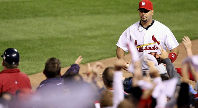 Albert Pujols is an icon in St. Louis but will be a free agent after the season ends. (Getty Images)