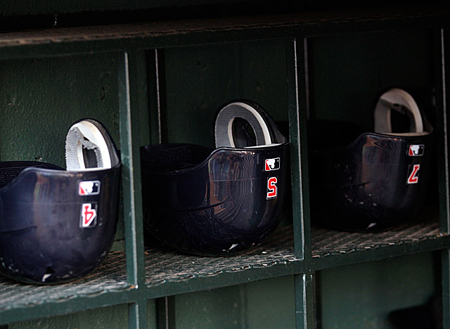 Will Pujols' No. 5 batting helmet continue to sit in the dugout with those of other Cards players? (Getty Images)