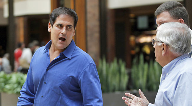 Mark Cuban and the NBA owners help the situation by backing off their 50/50 precondition. (AP)