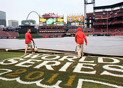 Major League Baseball plays it safe and pushes Game 6 back a day to avoid the rain in St. Louis.  (Getty Images)