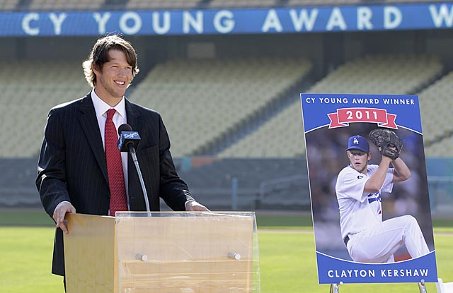 Clayton Kershaw works in a pitcher-friendly division, but it's tough to argue against a Triple Crown winner. (AP)