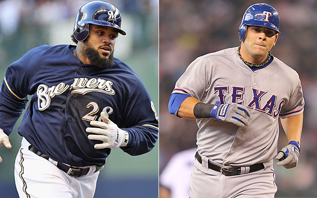 If the Rangers do land Prince Fielder, they will likely look to move Mitch Moreland. (Getty Images)