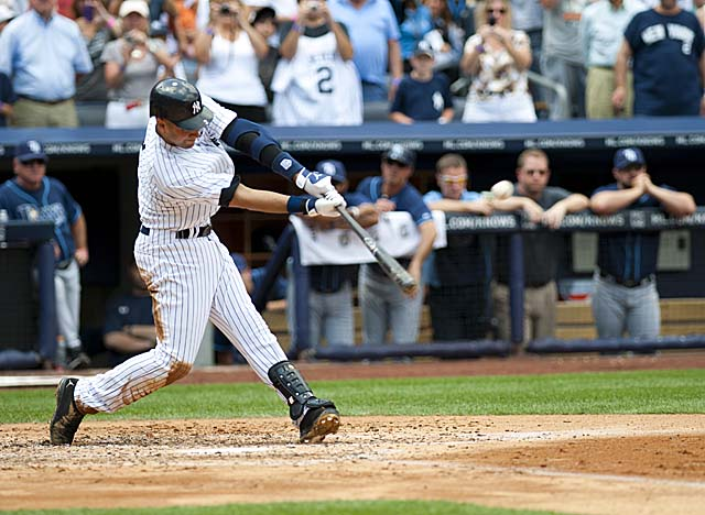On a perfect July 9 in the Bronx, Jeter went 5-for-5, crushing a HR for his 3,000th hit. (Getty Images)