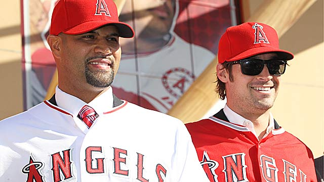 By landing All-Stars Albert Pujols and C. J. Wilson, the Angels have outdone their counterparts. (Getty Images)