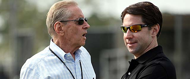 Mets owner Fred Wilpon and COO Jeff Wilpon have been a drag on the NL. (Getty Images)