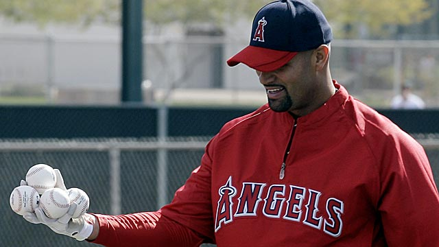Albert Pujols is excited just to be outside, as he's been training indoors in St. Louis. (AP)