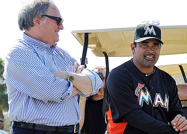 Marlins owner Jeffrey Loria and new skipper Ozzie Guillen are getting along -- so far. (US Presswire)