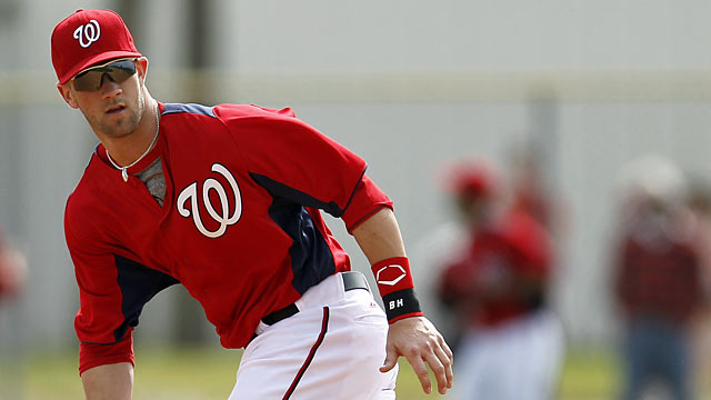 Harper needs to show the Nats he is well worth keeping around for the start of the season. (AP)