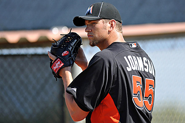 A healthy Josh Johnson will be critical to the Marlins' success this season. (US Presswire)