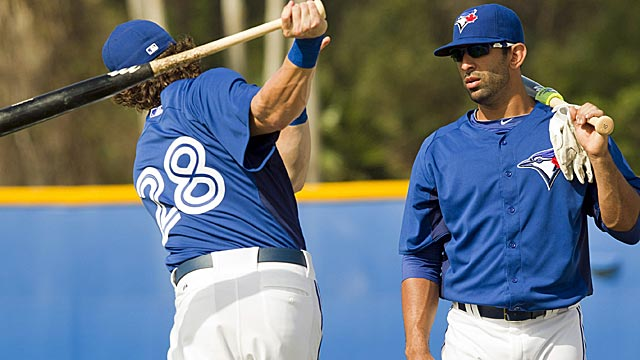 Colby Rasmus should benefit plenty from talking hitting with Jose Bautista. (AP)