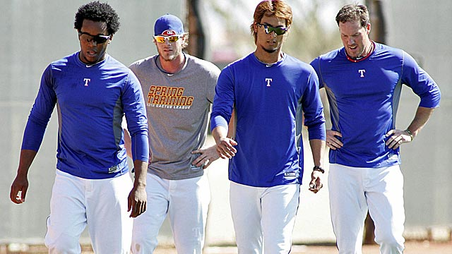 With Joe Nathan (right) and Yu Darvish, the Rangers are stong on the front and back end. (US Presswire)