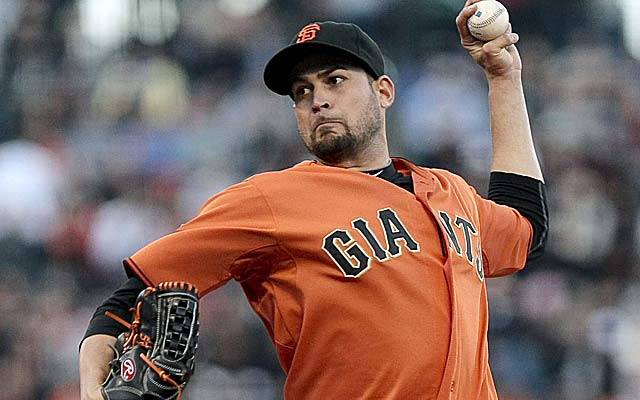 Jonathan Sanchez, a free agent after this season, hopes to make a quick impact in K.C. (US Presswire)