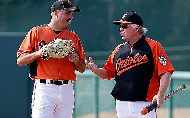 Nick Johnson (left) is just one of a few veterans Buck Showalter has in camp. (Getty Images)
