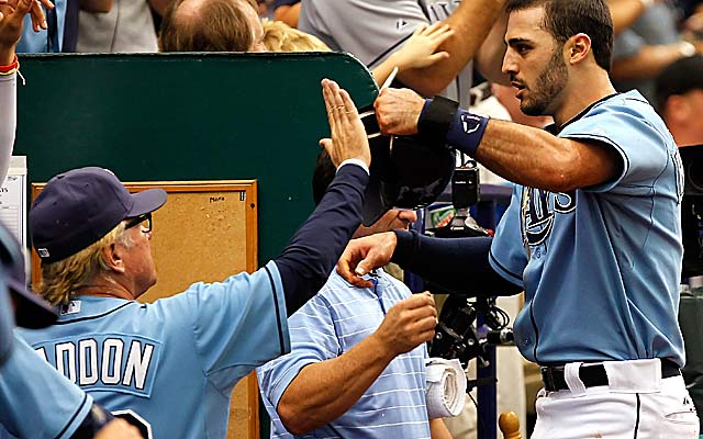 Joe Maddon's Rays continue to find postseason success despite a low payroll. (Getty Images)