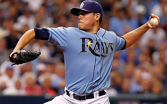 Matt Moore is an improvement to a rotation that topped the AL in ERA in 2011. (Getty Images)
