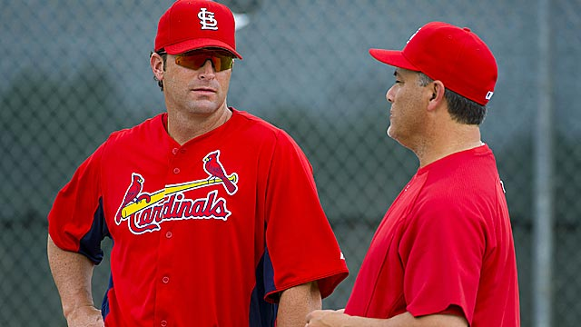 New Cardinals manager Mike Matheny has some big shoes to fill with Tony La Russa's departure. (US Presswire)