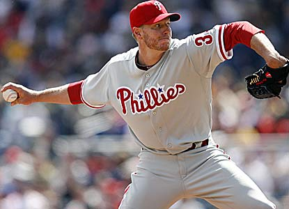 Roy Halladay picks up the win after pitching eight innings of two-hit ball without issuing a walk. (US Presswire)