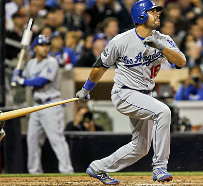 Andre Ethier has a hot bat already, driving in four runs for the Dodgers with a double and triple. (AP)