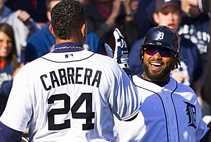 Miguel Cabrera and Prince Fielder both homer twice off Josh Beckett as the Tigers pound the Red Sox.  (US Presswire)