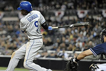 Dee Gordon delivers the game-winning hit in the top of the 11th as the Dodgers move to 2-0.  (Getty Images)