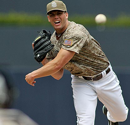 Padres starter Clayton Richard combines with two relievers to throw a four-hitter against the Dodgers.  (US Presswire)
