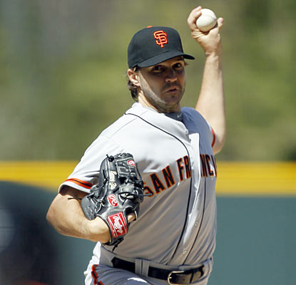 Barry Zito goes the distance and holds the Rockies to just four hits en route to his first shutout since April 18, 2003. (AP)