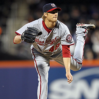 Nationals' starter Ross Detwiler strikes out seven in five scoreless innings of work to earn the win.  (Getty Images)