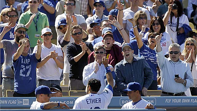 Fans are ready to fall back in love with the Dodgers, especially with hits like Andre Ethier's. (AP)
