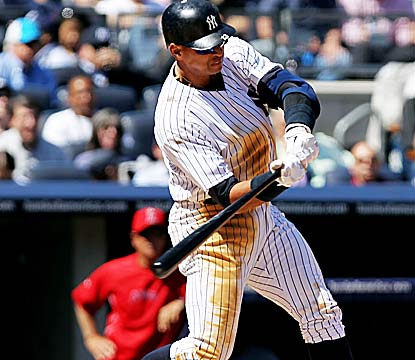 Alex Rodriguez's 630th HR -- his first of the season -- ties Ken Griffey Jr. for fifth on the all-time list. (Getty Images)