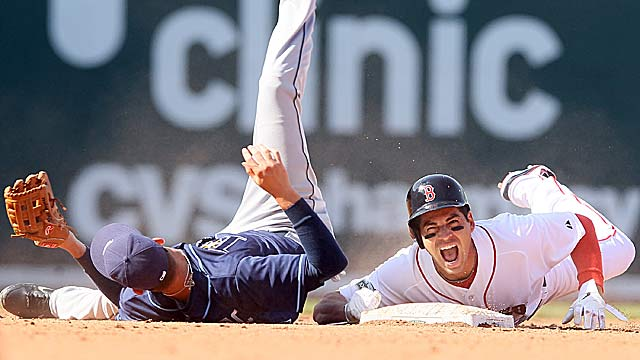 This Jacoby Ellsbury injury overshadows the Red Sox's big victory in the home opener. (Getty Images)