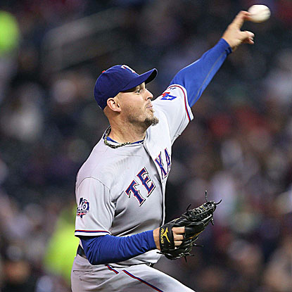 The Rangers' Matt Harrison allows one run on seven hits in eight innings of work to improve to 2-0 on the year.  (US Presswire)