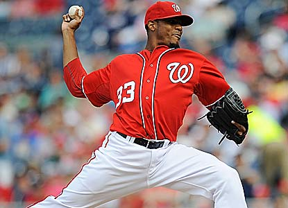 Edwin Jackson fires 92 pitches -- 65 for strikes -- to lead the Nats to their fifth straight victory. (Getty Images)