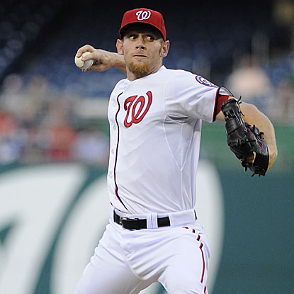 The Nationals' Stephen Strasburg strikes out five and allows two earned runs to beat the Astros and move to 2-0 on the year.   (US Presswire)