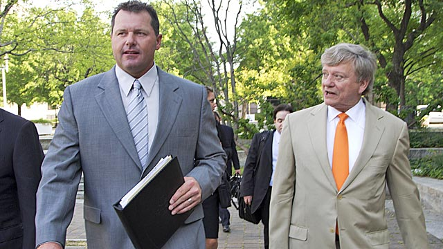 Clemens has six lawyers working on his defense, led by Houston lawyer Rustin Hardin. (AP)
