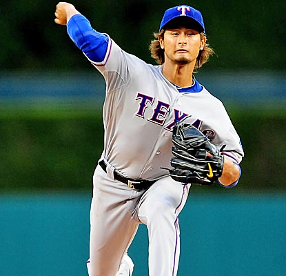Yu Darvish earns his second win of the year by taking a two-hitter into the seventh inning.  (US Presswire)