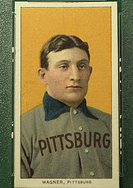 The legendary Honus Wagner T206 baseball card is one of only about 200 issued between 1909 and 1911. (Getty Images)