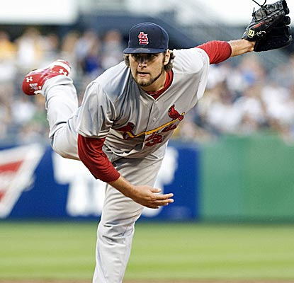 Lance Lynn is again terrific, striking out four and allowing just one run over seven innings of work.  (US Presswire)