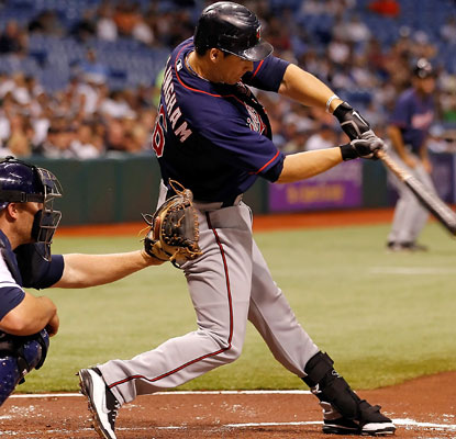 Josh Willingham is one away from Kirby Puckett's team record of hitting safely in the first 15 games of the 1994 season.  (Getty Images)