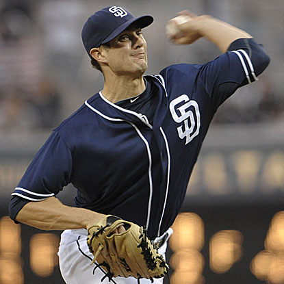 The Padres' Cory Luebke strikes out five and yields just two hits in eight innings to outduel the Phillies' Roy Halladay.  (Getty Images)