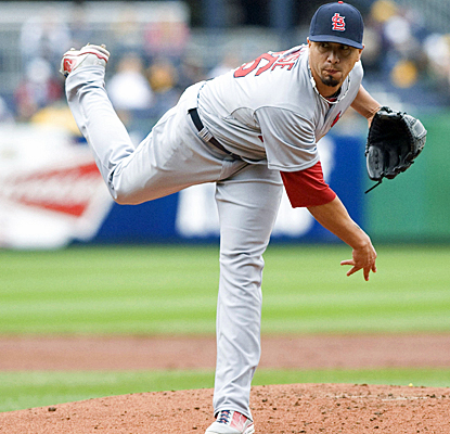 Kyle Lohse gives the Cardinals another strong outing by striking out five and walking nobody through seven innings of work. (US Presswire)