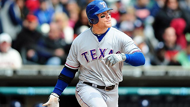 Over Texas' nine-game road trip, Hamilton went 18 for 39 (.461), with five HRs and 14 RBI. (US Presswire)